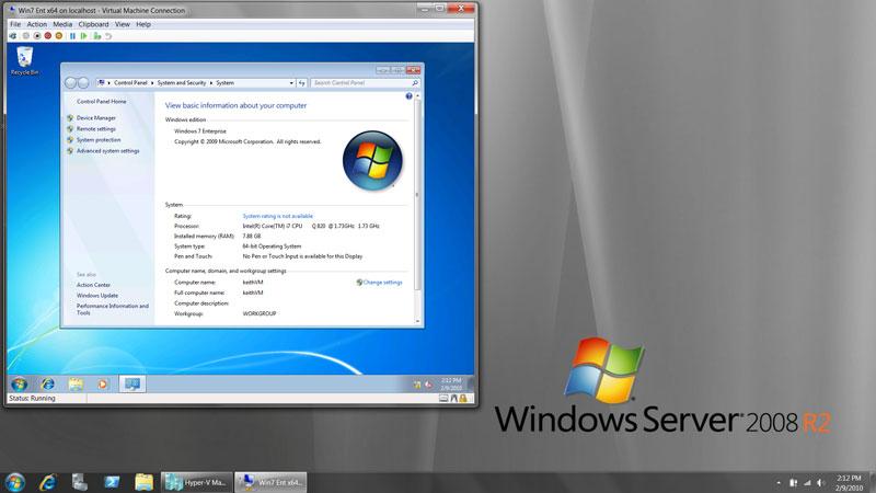 تکامل محیط ویندوز سرور در 2008r2