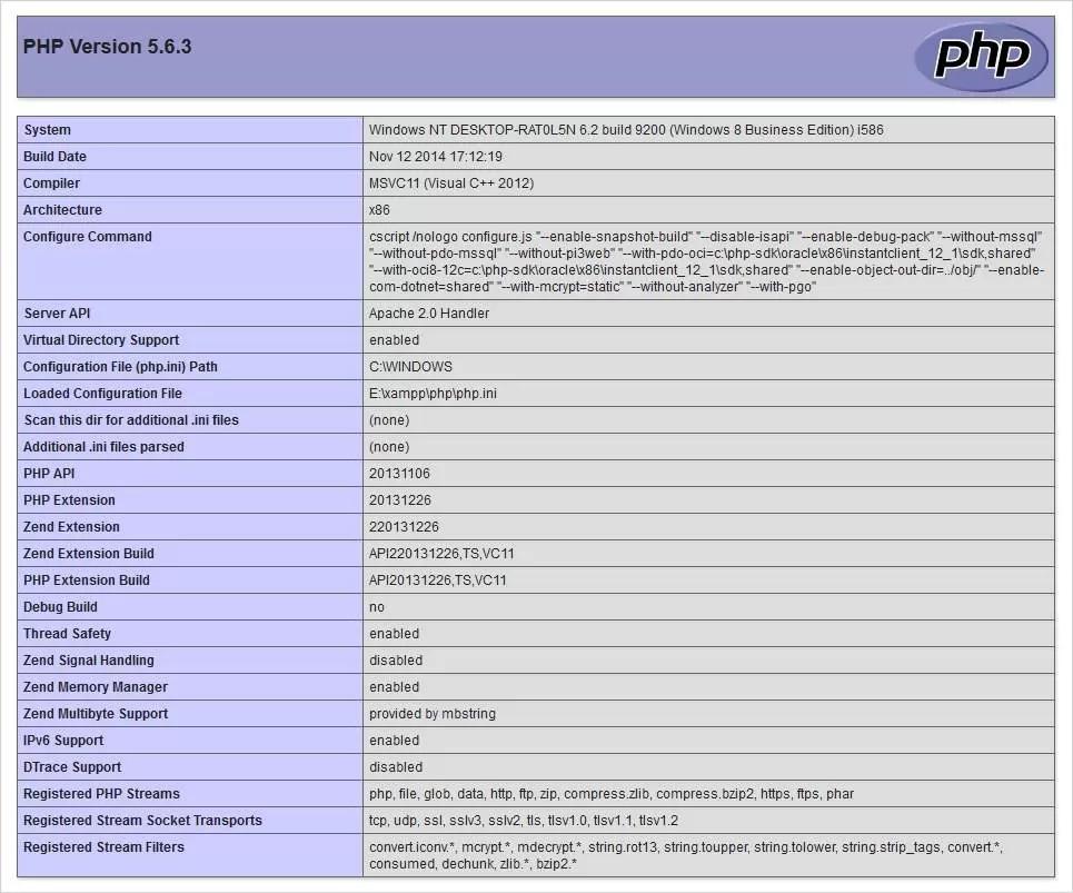 شناسایی و به روز رسانی نسخه PHP