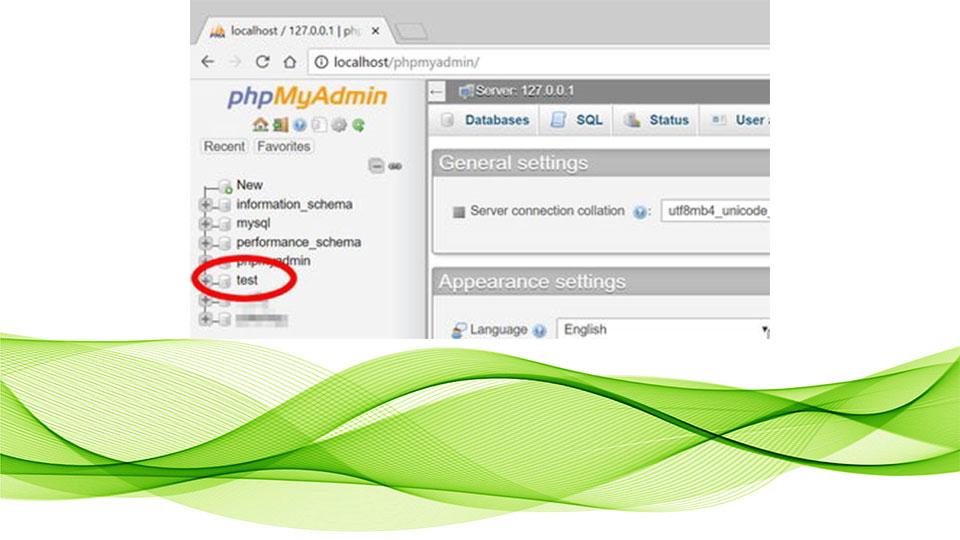 حذف دیتا بیس از phpmyadmin