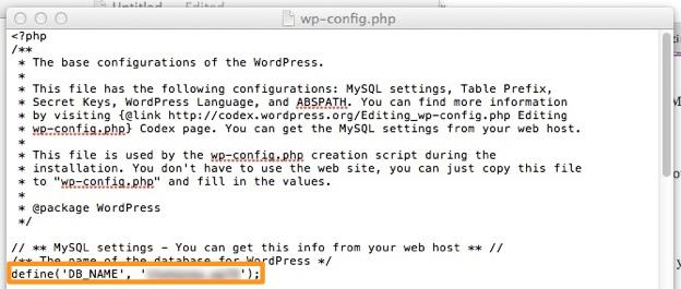 بازیابی پسورد وردپرس - فایل wp-config.php