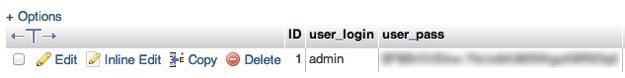 بازیابی پسورد وردپرس - user-pass