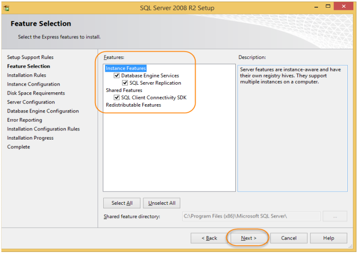 نصب SQL Server 2008