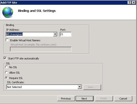 Choose SSL Based on Constraint