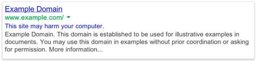 اخطار بدافزار گوگل