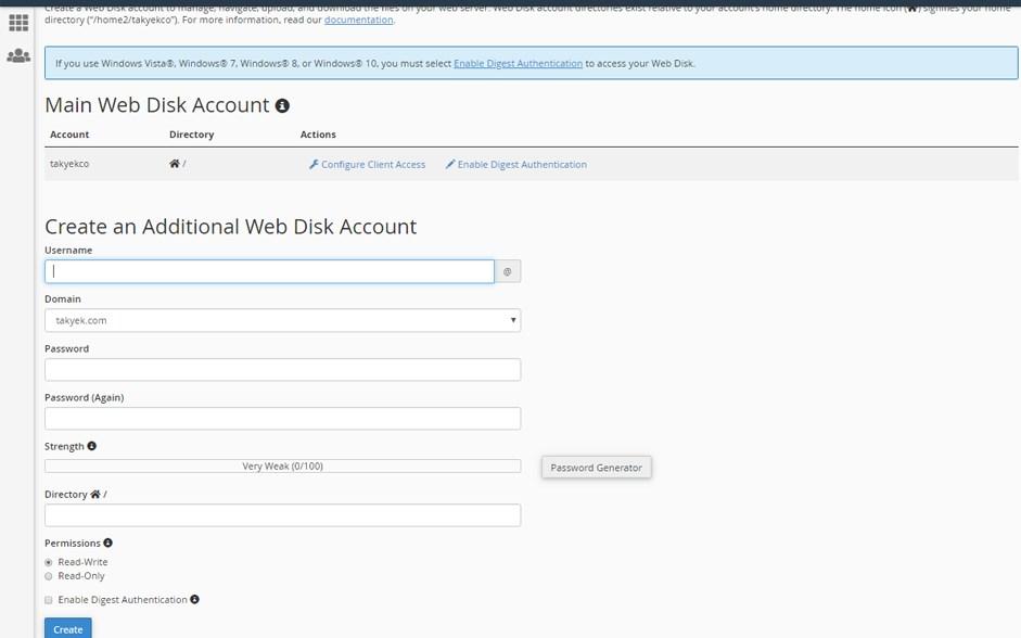 نحوه کار با ERPWeb Disk در سی پنل