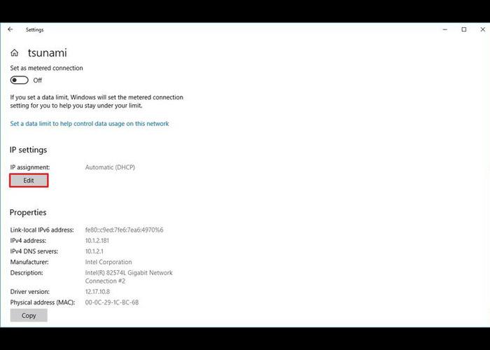 تغییر DNS با استفاده از Settings