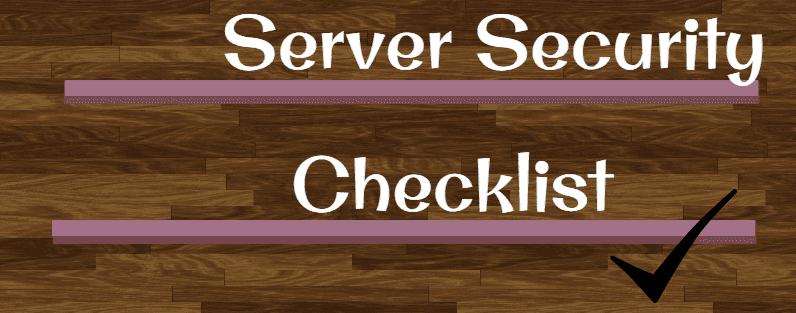 چک لیست امنیت سرور