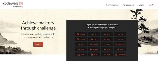 Codewars وب سایت های برتر برای یادگیری برنامه نویسی به صورت رایگان