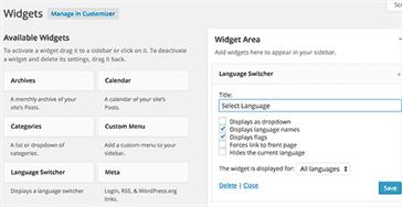 نمایش تعویض چند زبانه در سایت وردپرس شما
