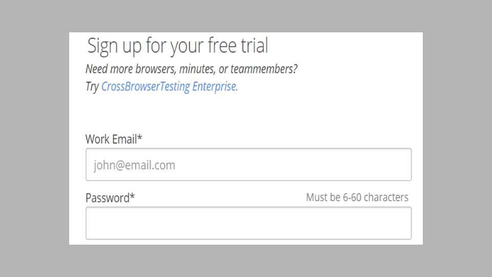 ثبتنام CrossBrowserTesting