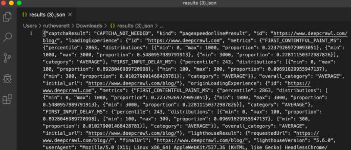 پرونده JSON در پایتون اندازه گیری عمل کرد سایت با پایتون