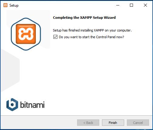 مرحله پایانی نرم افزار xampp