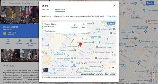 اضافه کردن نقشه گوگل به سایت  با HTML