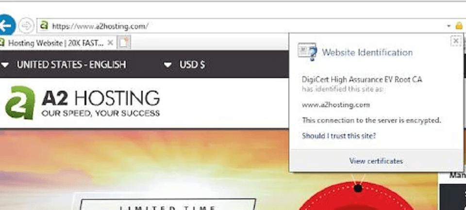 بررسی Internet Explorer SSL