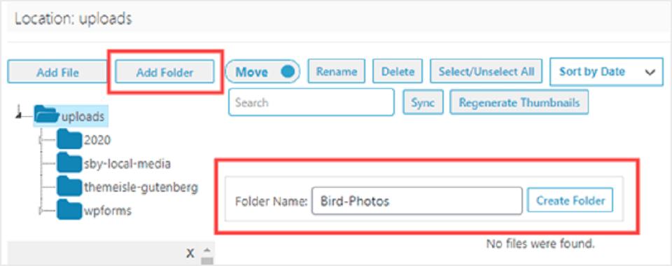 نحوه سازماندهی پرونده های وردپرس در فایل های کتابخانه رسانه