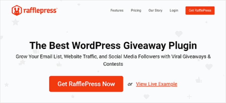 7 مورد از بهترین افزونه های اینستاگرام در وردپرس :  RafflePress