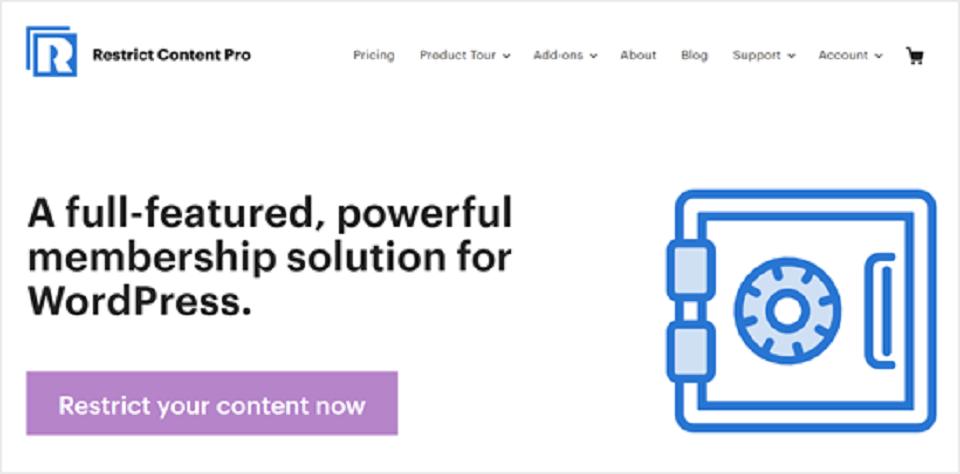 افزونه های پرداخت وردپرس : restrict-content-pro-website