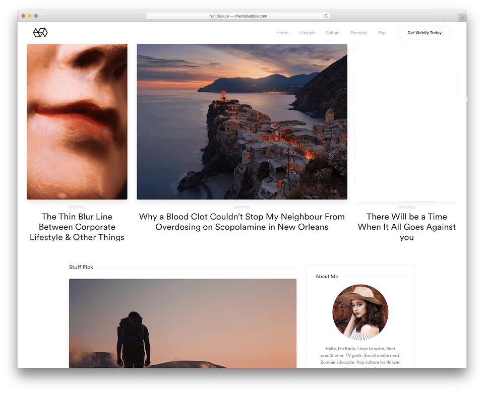 قالب های وبلاگ نویسی : Webify (WordPress)