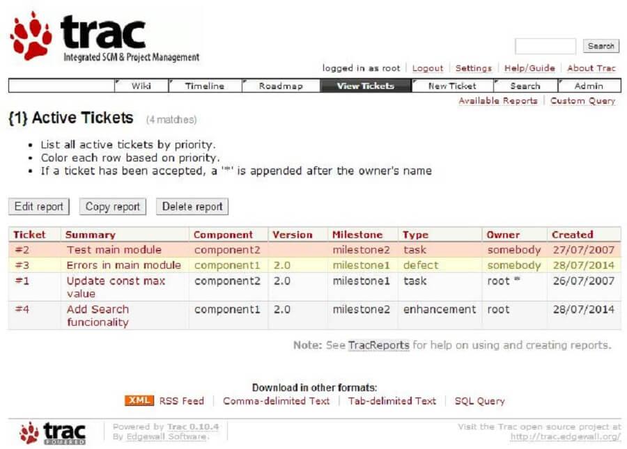 5 از بهترین سیستم عامل های مدیریت پروژه : Trac