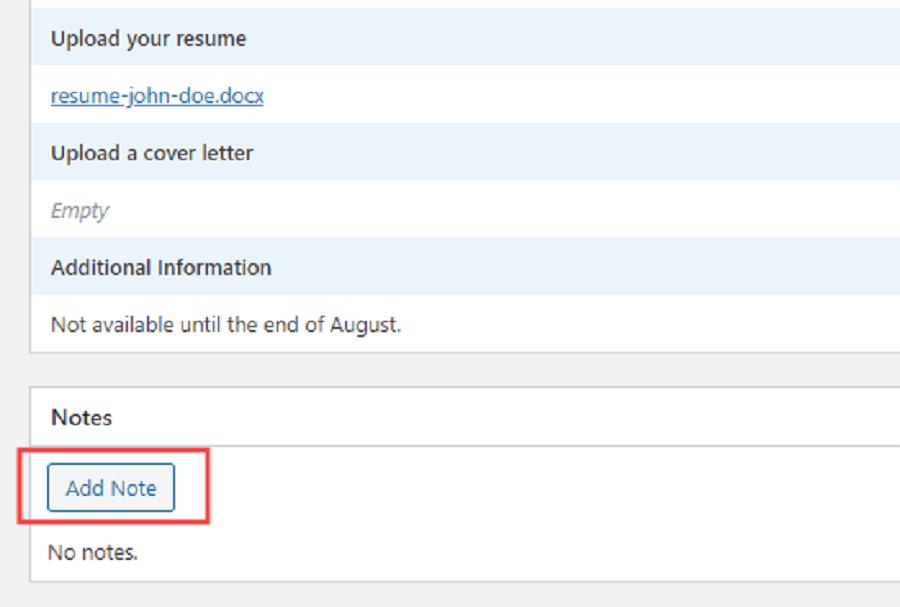 فرم در خواست شغلی وردپرس :مشاهده برنامه های ارسال شده در وردپرس