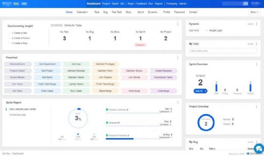 5 از بهترین سیستم عامل های مدیریت پروژه : Zentao