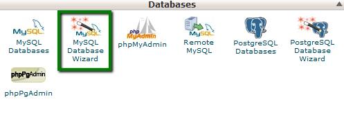 ایجاد یک پایگاه داده با ابزار MySQL Database Wizard