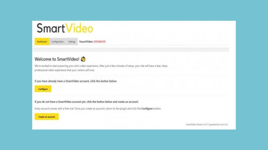 صفحه خوش آمدگویی SmartVideo.