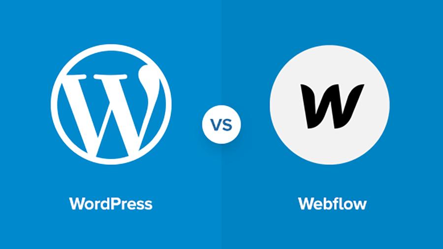 مقایسه webflow و wordpress