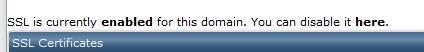 نصب گواهینامه SSL در DirectAdmin
