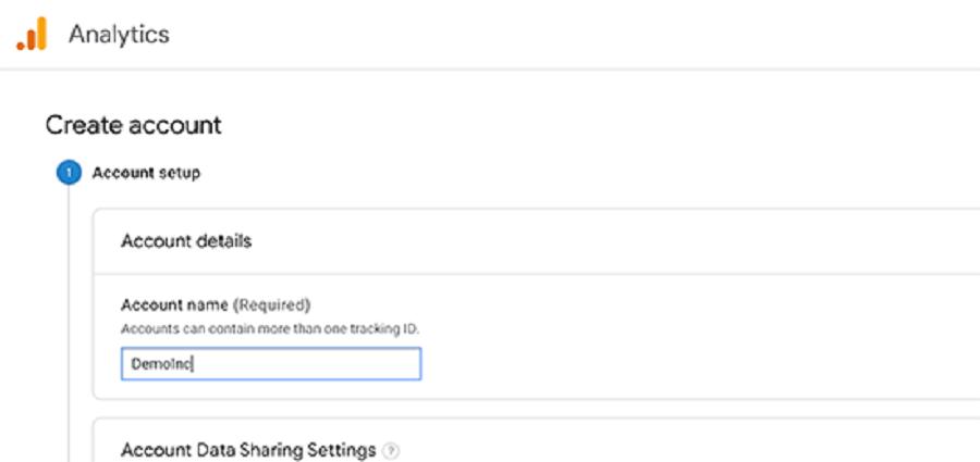 ثبت نام در گوگل آنالیتیس بخش ورود نام اکانت