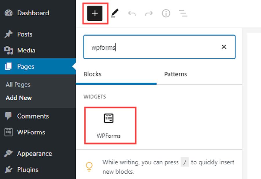 بخش اضافه کردن فرم به سایت