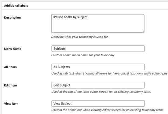 ایجاد طبقه بندی سفارشی در وردپرس با افزونه - صفحه ایجاد فرم طبقه بندی