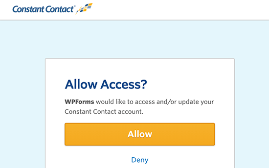 اجازه دسترسی به Contact Constant