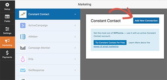اتصال به Constant Contact'