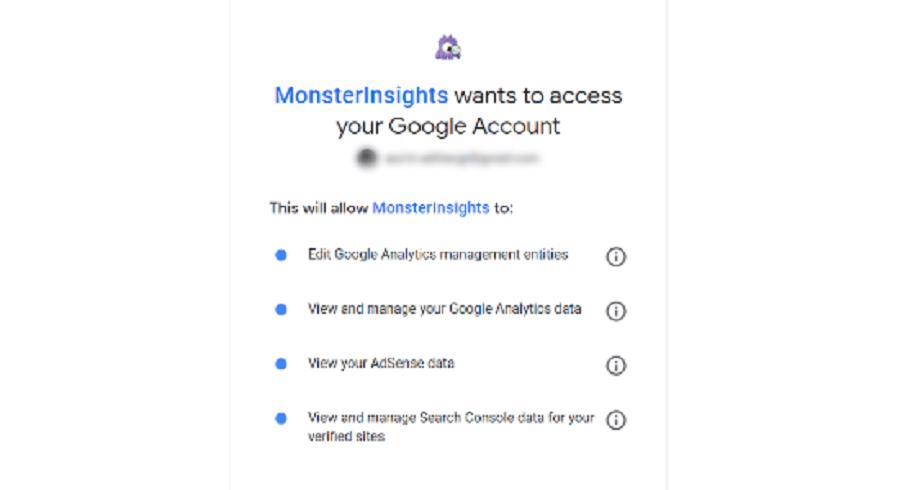 اجازه دادن برای دسترسی به حساب گوگل