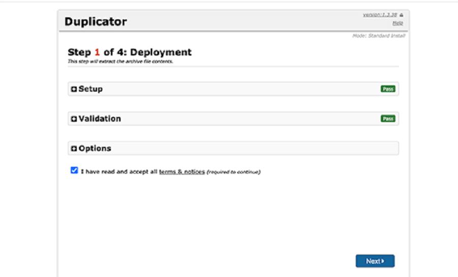 اسکریپت نصب dupicator