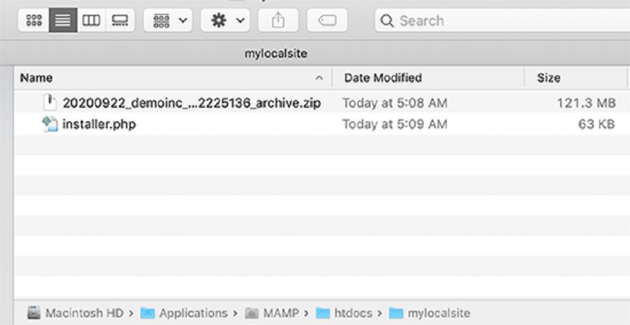 پیوست کردن فایل زیپ