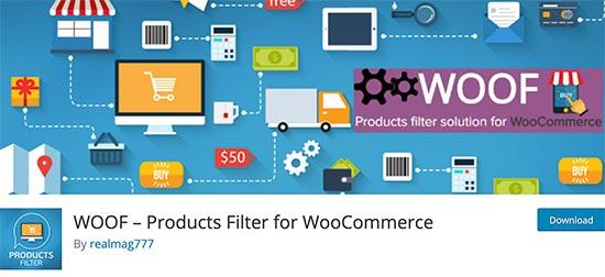 فیلتر محصولات WOOF پلاگین جستجوی وردپرس