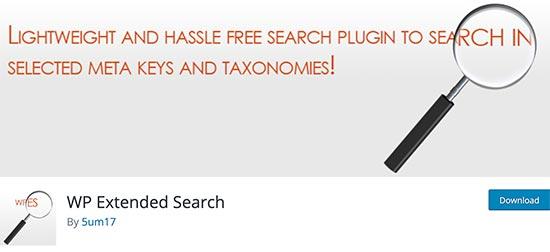 WP Extended Search افزونه جستجوی وردپرس