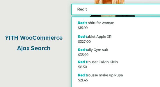 YITH WooCommerce Ajax Search پلاگین جستجوی وردپرس