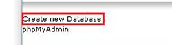 انتخاب گزینه Create New Database و ساختن یک پایگاه داده جدید در سی پنل برای نصب پرستاشاپ