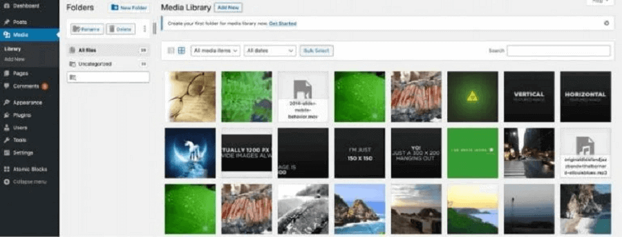 کتابخانه رسانه وردپرس: FileBird