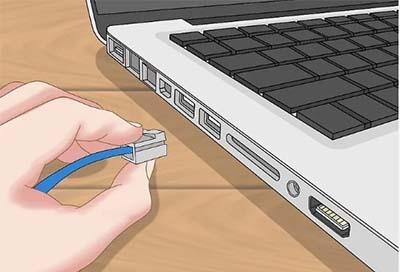اتصال کابل اترنت به گره های موجود در شبکه لوکال