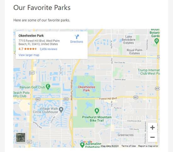 جاسازی نقشه گوگل