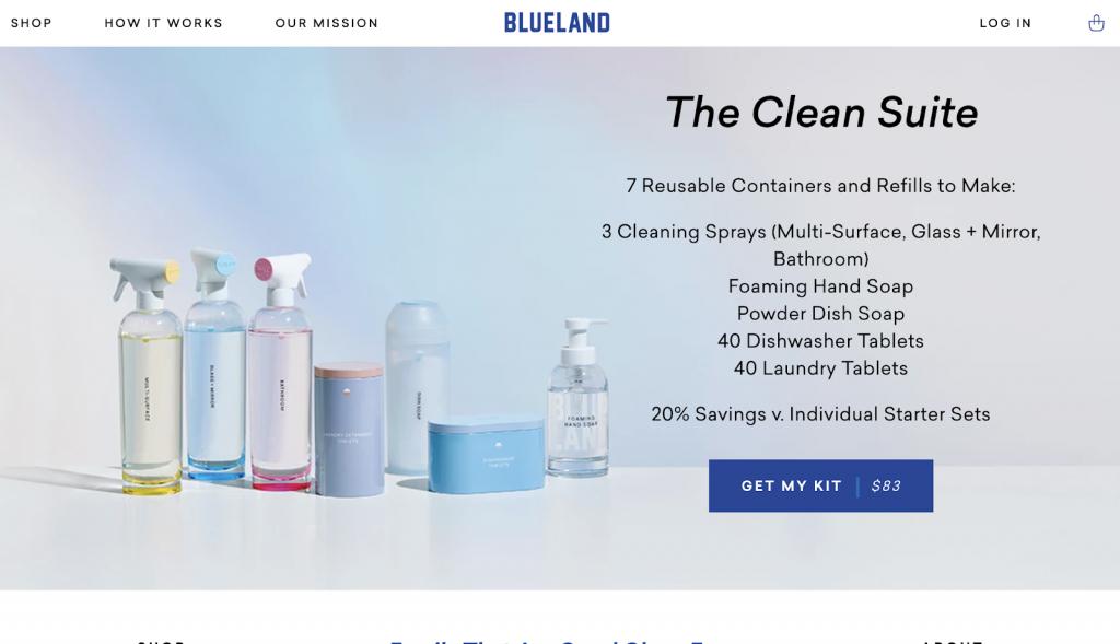 نمونه ای از استفاده از رنگ های سرد و ملایم در طراحی وب سایت