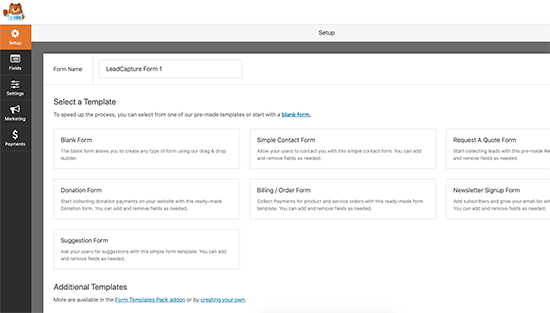 ایجاد فرم در WPForms
