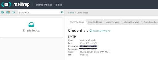 سرور SMTP جعلی