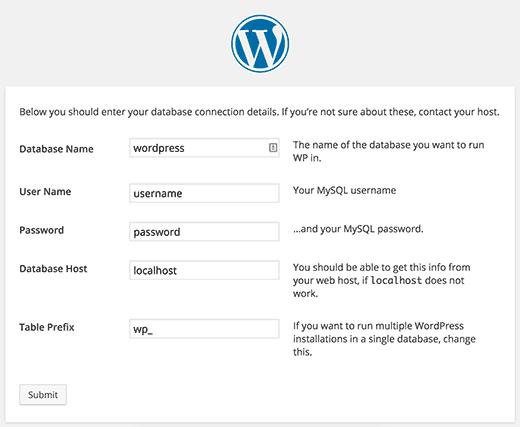 ساخنه شدن wp-config.php در مراحل نصب