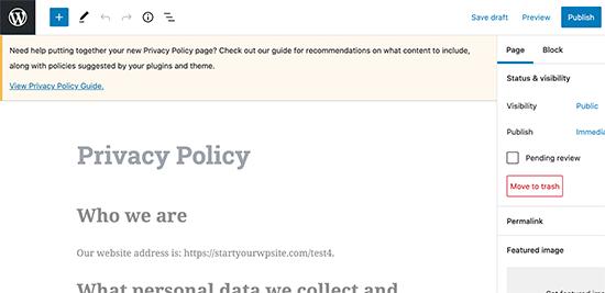 ویرایش صفحه سیاست حفظ حریم خصوصی
