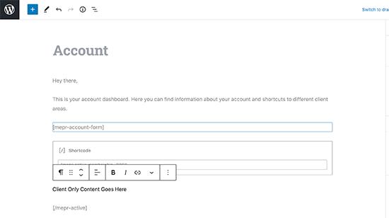 سفارشی سازی صفحه اکانت